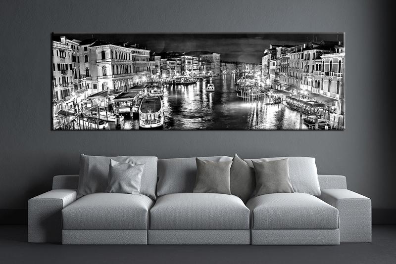 Black And White City Canvas Art | Sevenstonesinc With Regard To Black And White Large Canvas Wall Art (Image 3 of 10)