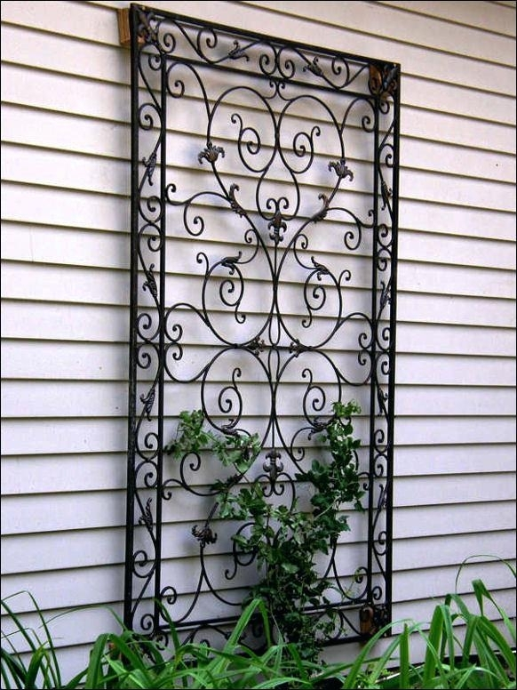Black Iron Wall Decor Wall Art Design Ideas Wrought Iron Metal For Metal Outdoor Wall Art (View 4 of 10)