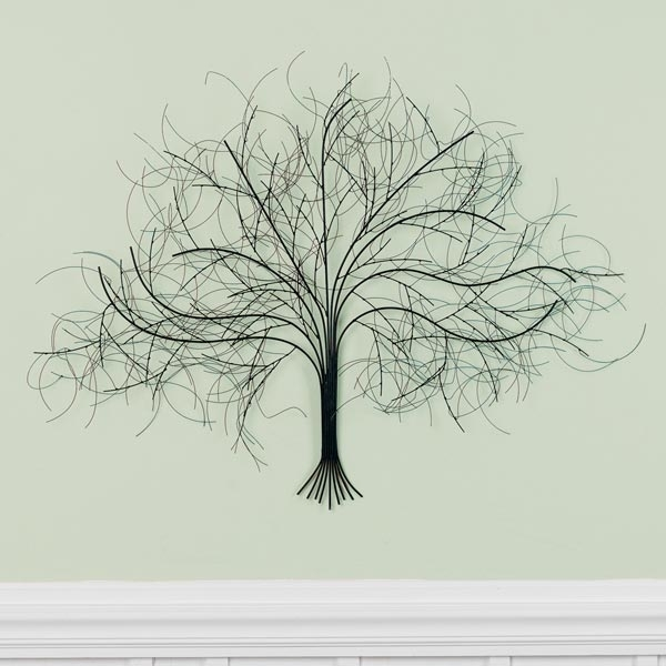 Black Tree Metal Wall Art At Signals | Hh5624 With Metal Wall Art Trees (Image 1 of 10)