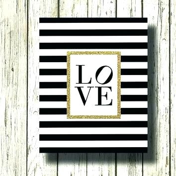 Black White And Gold Wall Art Black And Gold Wall Art White And Gold Pertaining To Black And Gold Wall Art (Image 5 of 10)