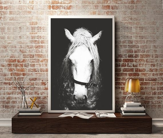 Black & White Horse Photography,horse Wall Decor,horse Wall Art With Horses Wall Art (Image 1 of 10)
