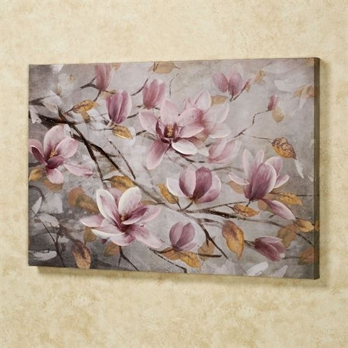 Blooming Branches Floral Canvas Wall Art Intended For Floral Canvas Wall Art (Image 5 of 10)