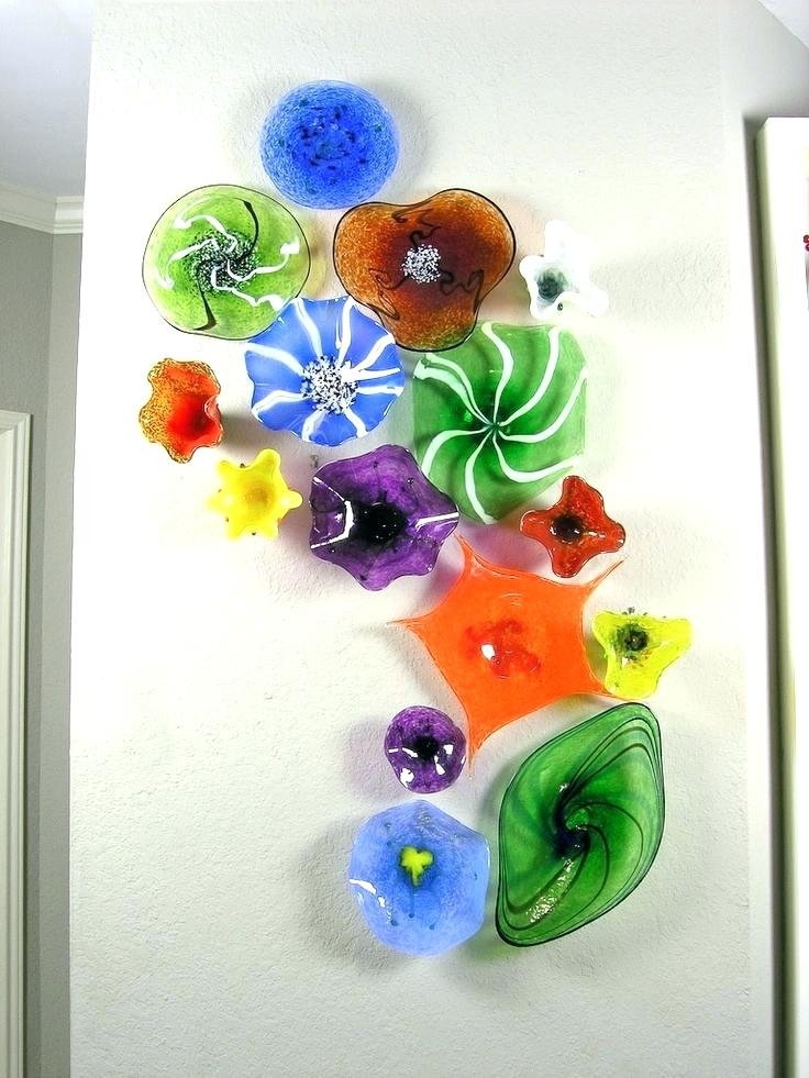 Blown Glass Plates Decorative Glass Plate Wall Art Best Of Glass With Glass Plate Wall Art (Image 2 of 10)