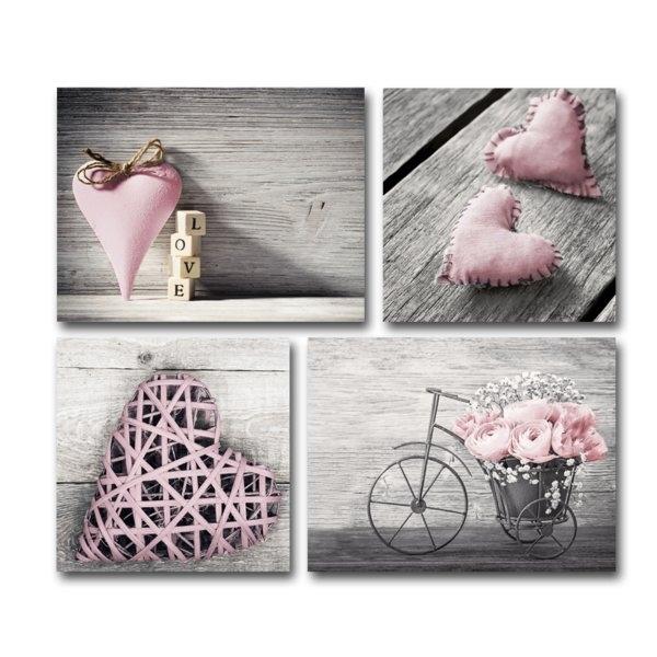 Blush Pink Wall Art | Wayfair.co (Image 4 of 10)
