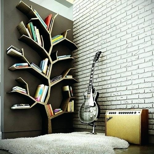 Book Tree And Guitar Image Unique Wall Art Ideas Unusual Within Unusual Wall Art (Image 2 of 10)