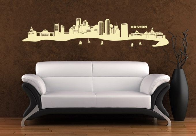 Boston Skyline Wall Art – East Coast Flair Vinyl Decal With Boston Wall Art (Photo 3 of 10)