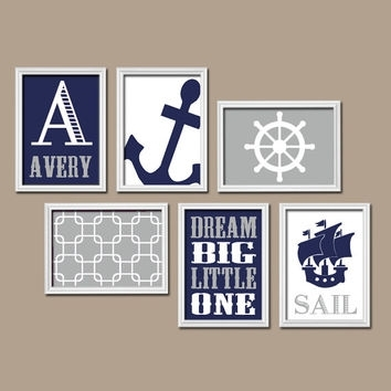 Boy Nautical Wall Art Canvas Or Prints From Trm Design | Wall Art With Nautical Wall Art (View 8 of 10)