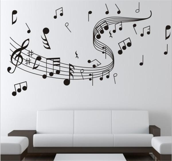 Brand New Diy Wallpaper Music Note Wall Stickers For Creative Wall Pertaining To Music Wall Art (Image 1 of 10)