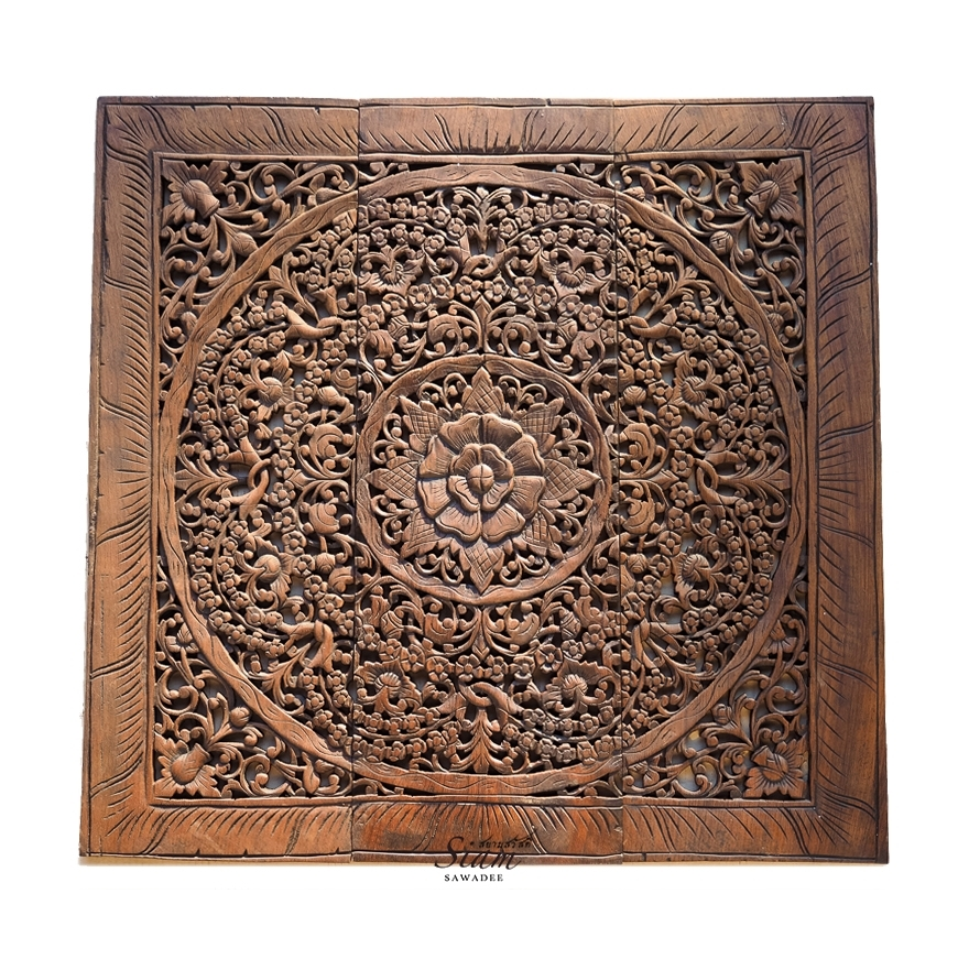 Buy Balinese Antique Wood Carving Wall Art Panel Online In Carved Wood Wall Art (Image 2 of 10)