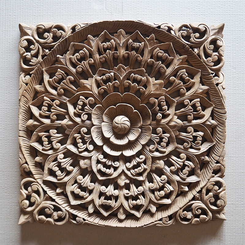 Buy Balinese Hand Carved Wood Wall Art Panel Online Regarding Carved Wood Wall Art (Image 3 of 10)