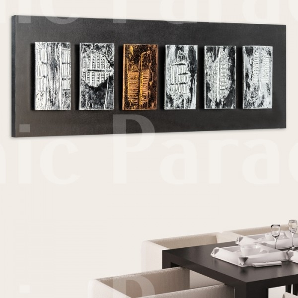 Buy Black And Chrome Ephorn Gloss Modern Wall Art For Modern Wall Art (View 2 of 10)