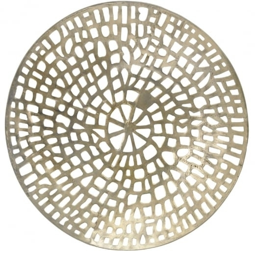 Buy Gold Coral Design Round Wall Plaque | Wall Art | Wall Plaque Within Round Wall Art (Image 1 of 10)