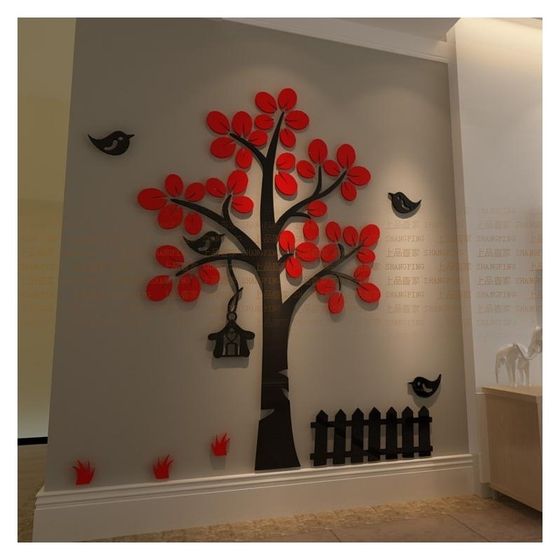 Buy Tree Shape Acrylic Wall Art At | Elifor (View 2 of 10)