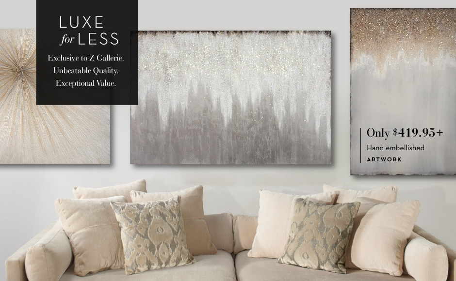 C Luxe For Less Stunning Z Gallerie Wall Decor – Wall Decoration Ideas Pertaining To Z Gallerie Wall Art (Photo 2 of 10)
