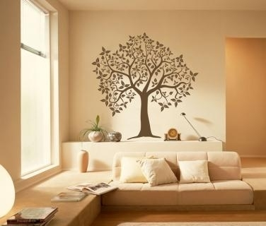 Caacfafaa Tree Wall Decals Yellow Walls Pic Photo Peel And Stick With Regard To Stick On Wall Art (Image 3 of 10)