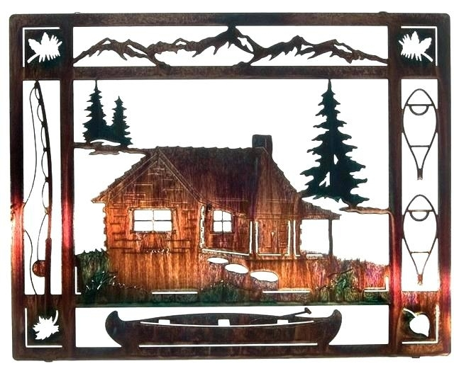 Cabin Wall Decor Rustic Metal Wall Decor Wall Art Designs Rustic Inside Rustic Metal Wall Art (View 3 of 10)