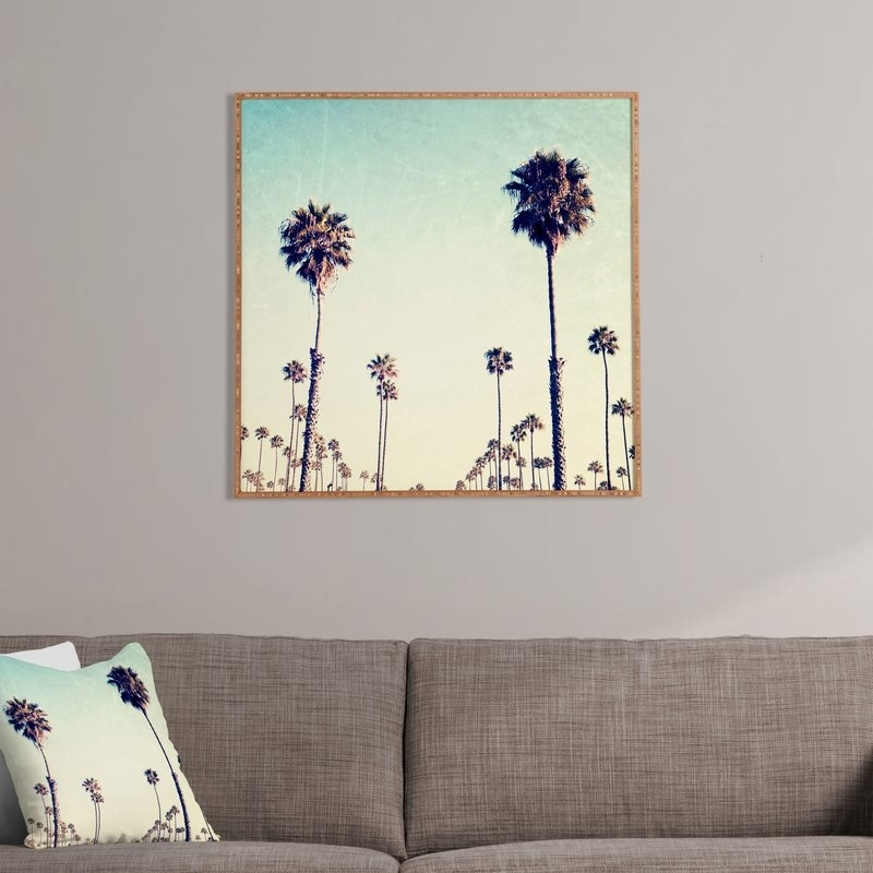 California Palm Trees Framed Wall Art & Reviews | Joss & Main For Framed Wall Art (View 4 of 10)