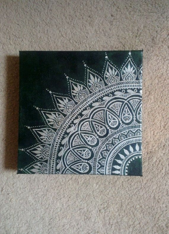 Canvas Art | //doodles\ | Pinterest | Henna Canvas, Hennas And Canvases Throughout Henna Wall Art (Image 3 of 10)
