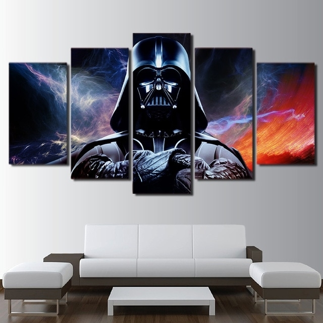 Canvas Hd Prints Posters Home Wall Art Framework 5 Pieces Star Wars Intended For Star Wars Wall Art (View 2 of 10)