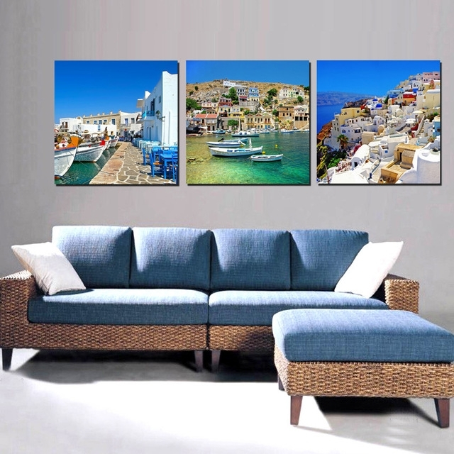 Canvas Painting Wall Art For Living Room Decorations Home Decor Inside Living Room Painting Wall Art (Image 7 of 10)