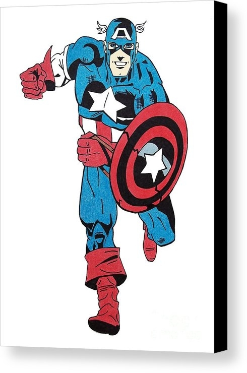 Captain America Canvas Print / Canvas Artgabrielle Aguilar Pertaining To Captain America Wall Art (Image 2 of 10)