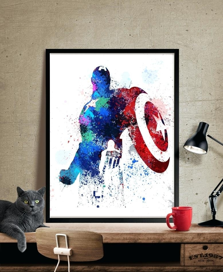 Captain America Wall Art Item Free Shipping Vinyl Shipping – Oeeee (Image 5 of 10)