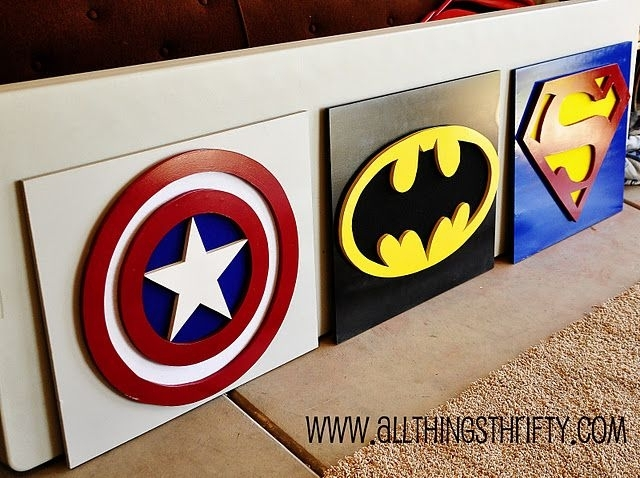 Captain America Wall Art, Part Three Of Benson's Room! | Pinterest Inside Superhero Wall Art (Image 1 of 10)