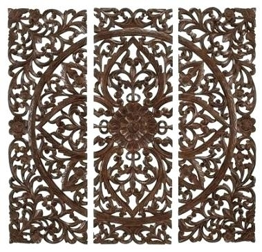 Carved Wood Wall Art Carved Wood Wall Panel Art Home Design Within Carved Wood Wall Art (Image 7 of 10)