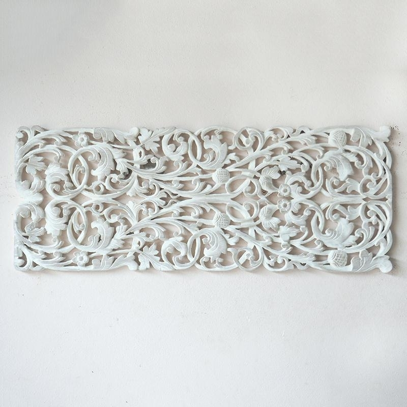 Carved Wood Wall Art Ientl Carved Wood Wall Art Ebay Carved Wood Pertaining To Carved Wood Wall Art (Image 8 of 10)