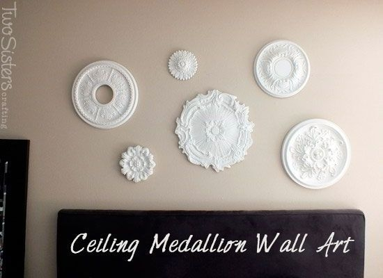 Ceiling Medallion Wall Arttwosisterscrafting #wallart In Ceiling Medallion Wall Art (Image 3 of 10)
