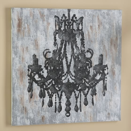 Chandelier Canvas Wall Art | Pbteen | Room Stuff: Art | Pinterest Regarding Chandelier Wall Art (Image 2 of 10)