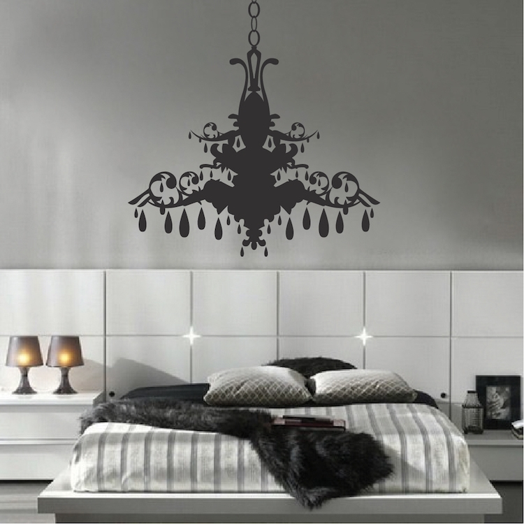 Chandelier Wall Art Sticker – Trendy Wall Designs Pertaining To Chandelier Wall Art (Image 3 of 10)