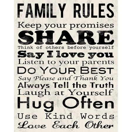 Cheap Family Rules Wall Art, Find Family Rules Wall Art Deals On For Family Rules Wall Art (View 2 of 10)
