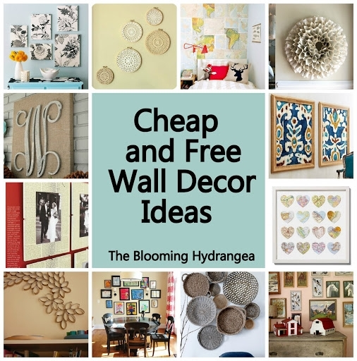 Cheap Wall Decor Ideas Cheap Free Wall Decor Ideas Roundup Within Inexpensive Wall Art (Image 6 of 10)