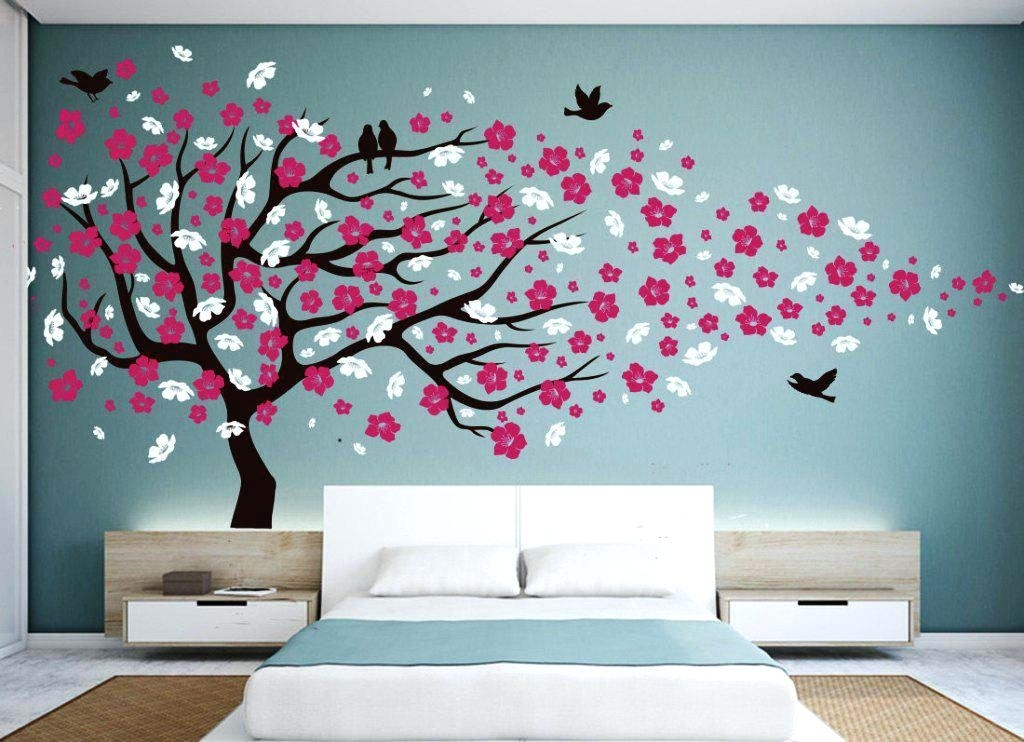 Cherry Blossom Wall Art Tree : Andrews Living Arts – Very Attractive With Regard To Cherry Blossom Wall Art (View 7 of 10)