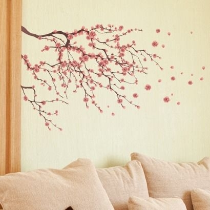 Cherry Blossom Wall Decal – Possible Wall Art | Teaching Ells Pertaining To Cherry Blossom Wall Art (Image 5 of 10)