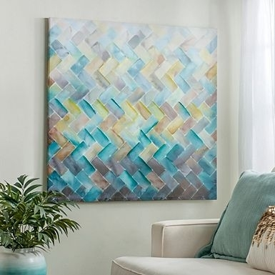 Chevron Tile Canvas Art Print | Альбомы Для Рисования | Pinterest With Regard To Tile Canvas Wall Art (Image 3 of 10)