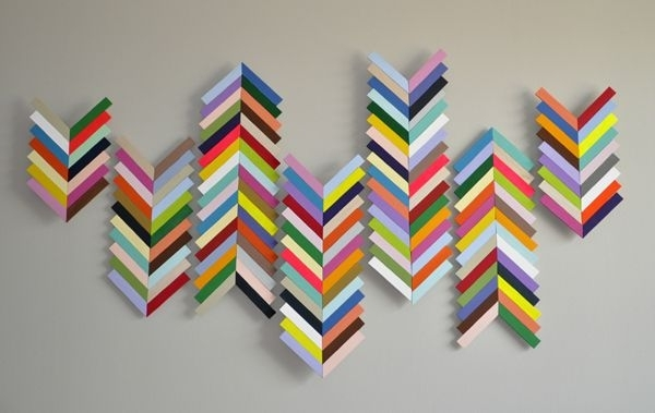 Chevron Wall Hangingmade From Balsa Wood (Image 4 of 10)