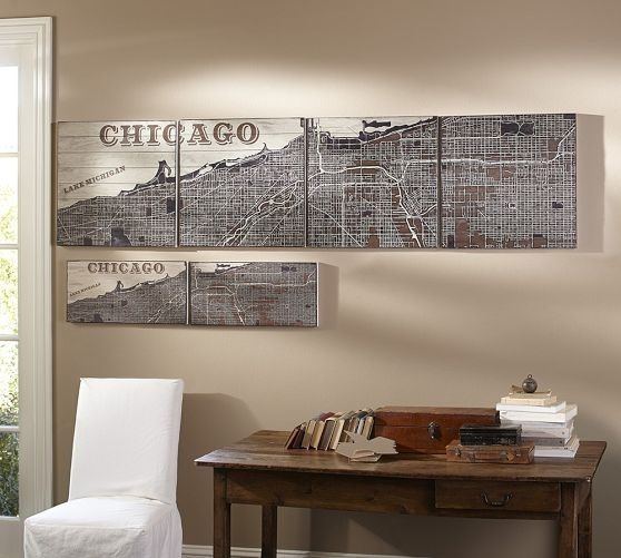 Chicago Wall Art | Pottery Barn | Future Condo Dreaming | Pinterest With Pottery Barn Wall Art (Image 3 of 10)