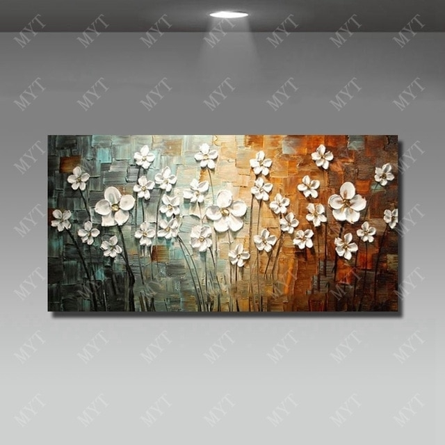 Chinese Wall Art Modern Living Room Wall Decor Flower Painting Large With Regard To Chinese Wall Art (Image 4 of 10)