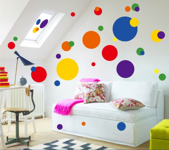 Circle Wall Art Stickers – Wall Decals Ireland For Circle Wall Art (Image 4 of 10)