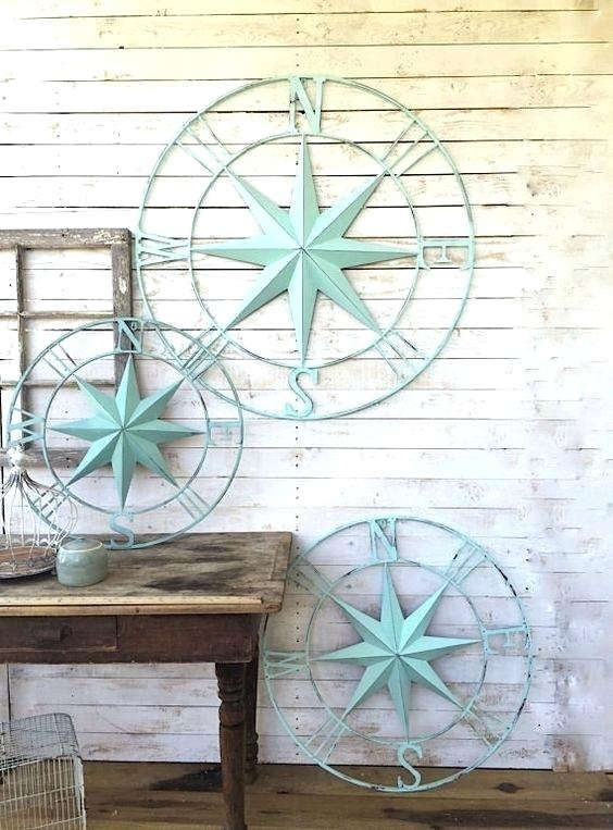 Coastal Metal Wall Decor Awesome Nautical Wall Decor Metal Compass Within Nautical Wall Art (View 9 of 10)