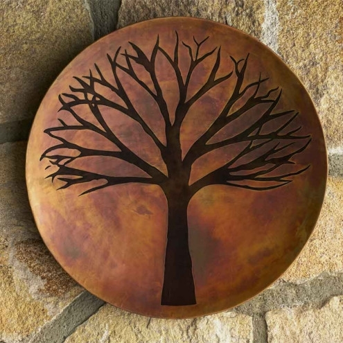 Copper Finish Tree Of Life Wall Art | Vivaterra Within Tree Of Life Wall Art (Image 1 of 10)