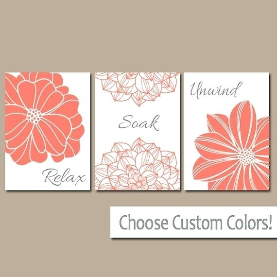 Coral Wall Art Coral Wall Art Canvas Coral Wall Art Home Decorate In Coral Wall Art (Image 4 of 10)