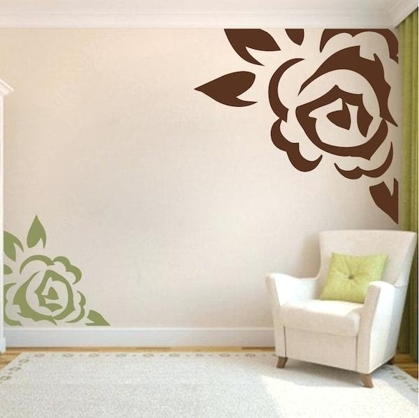 Corner Wall Art Corner Rose Vinyl Wall Art Design Zoom Metal Corner With Regard To Corner Wall Art (Image 5 of 10)