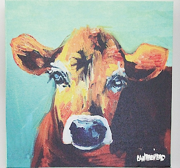 Cow Canvas Wall Art | Cow Art Canvas Antique Farmhouse Within Cow Canvas Wall Art (Image 4 of 10)
