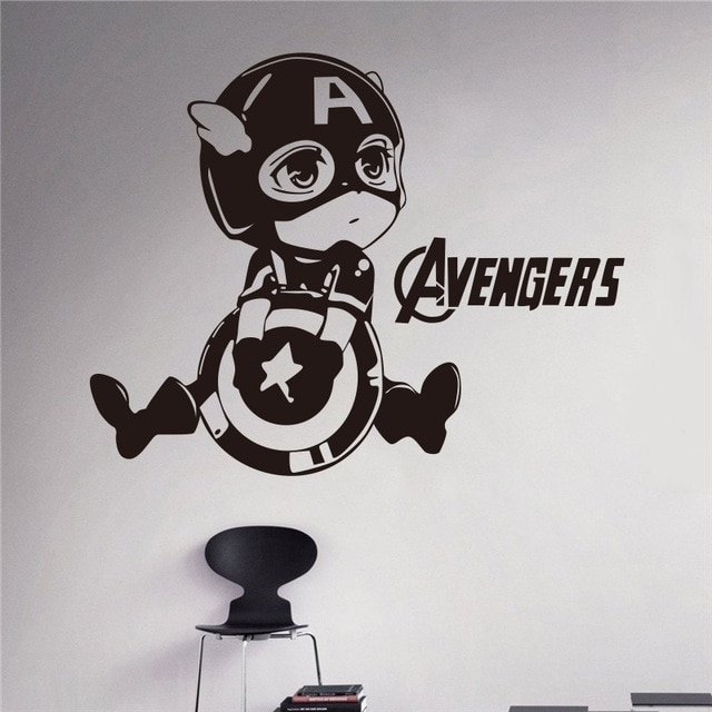 Creative Diy Wall Art Home Decoration Avengers Cartoon Image Of Intended For Captain America Wall Art (View 3 of 10)