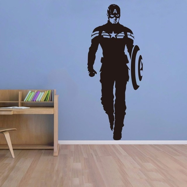 Creative Diy Wall Art Home Decoration Iron Man Avengers 2 & Captain Regarding Captain America Wall Art (Image 9 of 10)