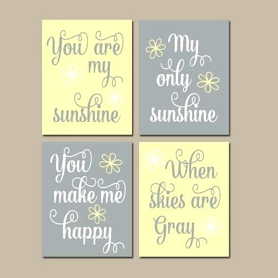 Creative Ideas You Are My Sunshine Wall Art Small Home Decor In You Are My Sunshine Wall Art (Image 3 of 10)