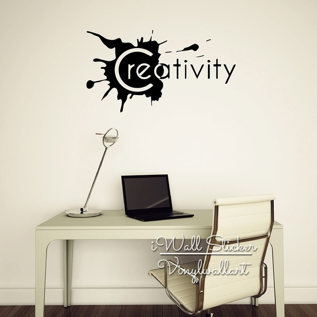 Creativity Quote Wall Sticker Inspirational Quote Wall Decal With Motivational Wall Art (View 3 of 10)
